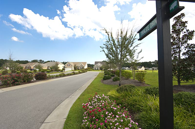 Beautiful well maintained streets await you in Spring Mill Plantation